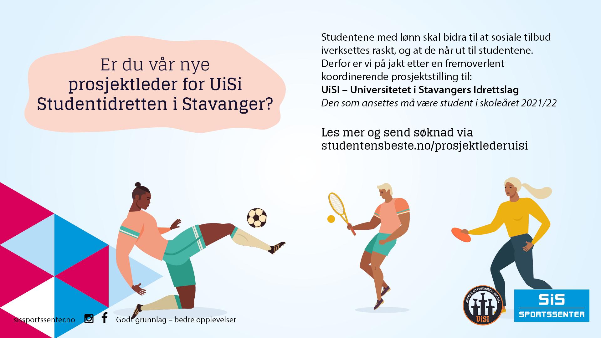 Vi Søker Prosjektleder For UiSi Studentidretten I Stavanger